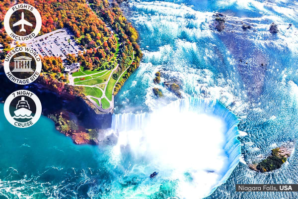 USA & CANADA: 23 Day USA and Canada Tour with Alaska Cruise Including Flights for Two (Ocean View Cabin)
