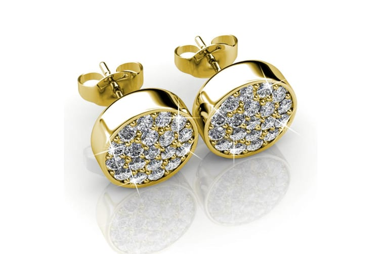 Pave Earrings Set Embellished with Swarovski crystals