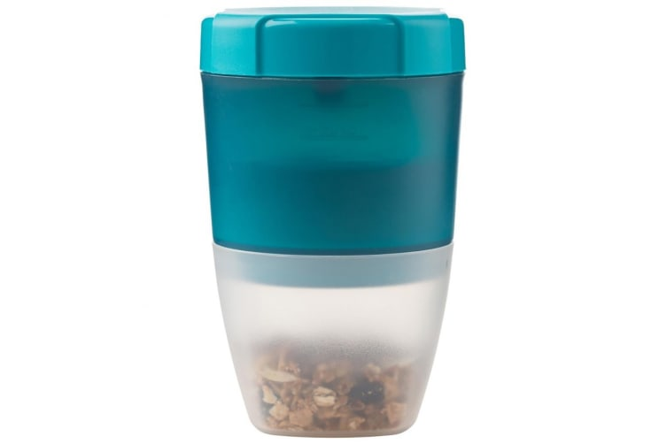 New Trudeau Fuel Yoghurt & Granola Container Tropical Blue BPA Free