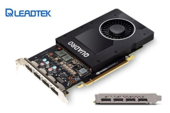 Leadtek nVidia Quadro P2000 PCIe Workstation Card 5GB DDR5 4xmDP 1.4 4x5120x2880@60Hz 160-Bit 140GB/s 1024 Cuda Core Single Slot ~M2000