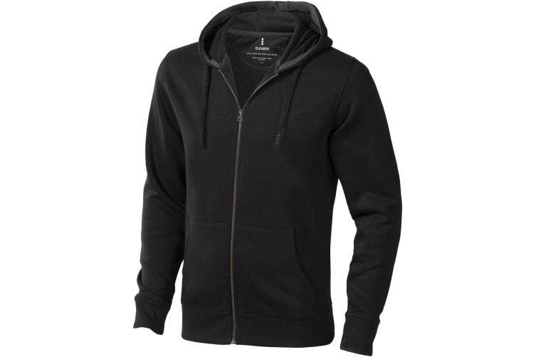 Elevate Mens Arora Hooded Full Zip Sweater (Anthracite) (XXXL)