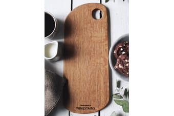 WineStains Rounded Flat Cheese Board 30cm