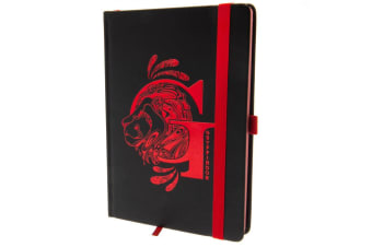 Harry Potter Official Gryffindor Premium Foil Notebook (Black/Red) (One Size)