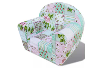 vidaXL Kids' Armchair Flower Pattern