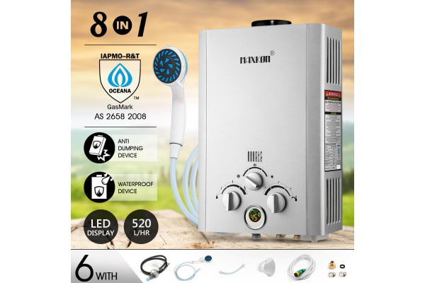 MAXKON 520L/Hr Portable Outdoor Gas Water Heater