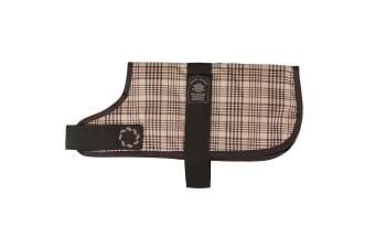 Outhwaites Waterproof Padded Dog Coat (Brown/Check)