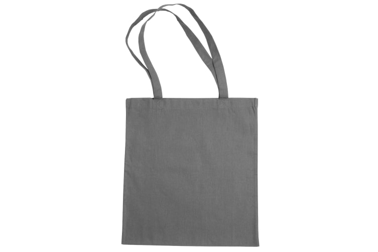 """Jassz Bags """"Beech"""" Cotton Large Handle Shopping Bag / Tote (Light Grey) (One Size)"""