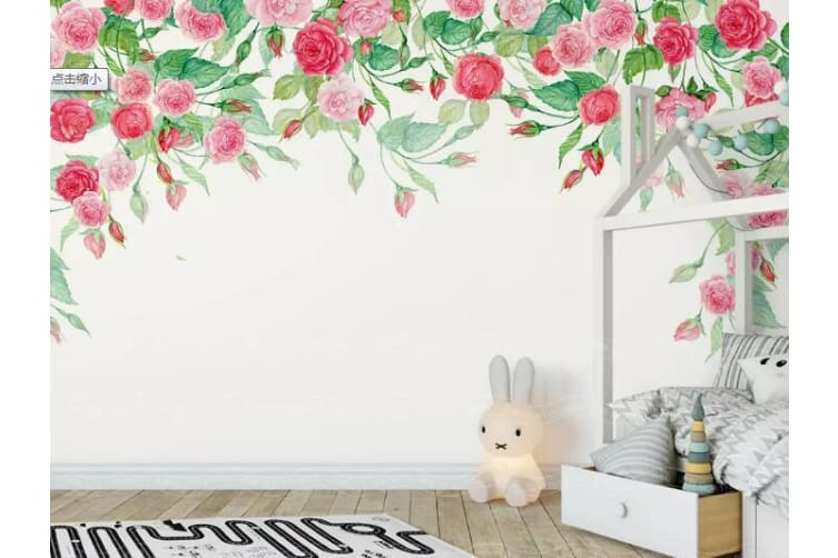 3D Hundred Flowers 1342 Wall Murals Self-adhesive Vinyl, XXL 312cm x 219cm (WxH)(123''x87'')