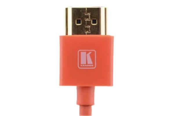 Kramer Ultra Slim High Speed HDMI Flexible Cable with Ethernet - 91.44cm - Red