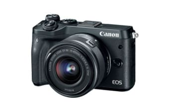 New Canon EOS M6 kit (15-45mm) Digital Cameras Black (FREE DELIVERY + 1 YEAR AU WARRANTY)