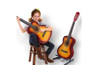 "34""Acoustic Guitar for Children Wooden Sunburst"
