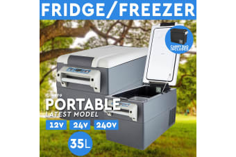 35L Portable Fridge Freezer 12V/24V/240V Camping Car Boating Caravan Fridge