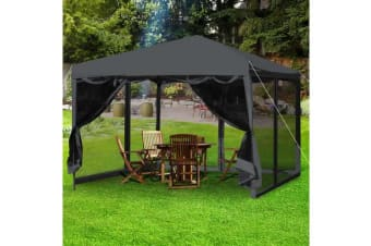 Easy Pop Up Gazebo Screen House with Mesh Walls BLACK