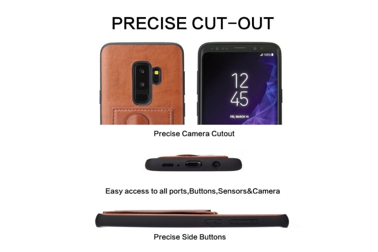 For Samsung Galaxy S9+ PLUS Case FS Luxury Durable Protective Cover Brown