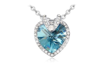 Heart Frost Necklace Embellished with Swarovski crystals