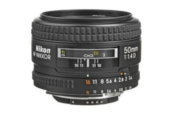 New Nikon AF NIKKOR 50mm f/1.4D Lens (FREE DELIVERY + 1 YEAR AU WARRANTY)