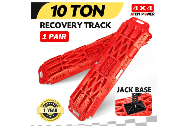 ATEM POWER Pair Recovery Tracks Sand Track Red 10T 4WD Car Accessories 4x4