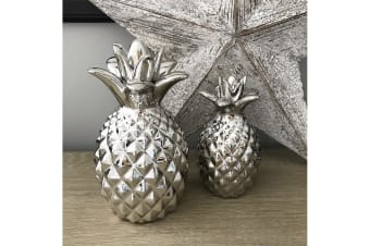 Ceramic Pineapple Ornament (Silver)