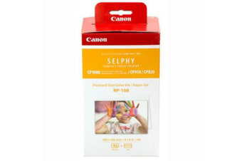 CANON RP108 INK CARTRIDGE AND PAPER PACK 108 SHEETS