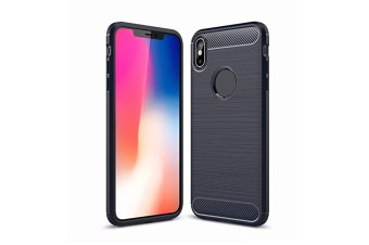 Compatible With Apple Iphone ,Slim Carbon Silicone Rugged Shockproof Protective Case for Iphone Xr