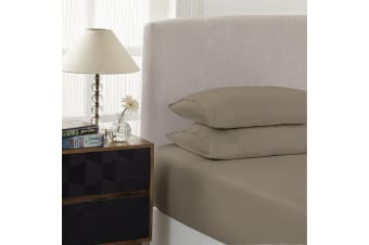Royal Comfort 1500 Thread Count Combo Sheet Set Cotton Rich Premium Hotel Grade - Single - Stone