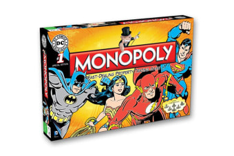 Monopoly DC Comics Heroes Board Game 8y+ Family/Kids/Adult Play Cards/Money/Toy