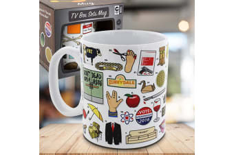 The Ultimate TV Box Series Quiz Mug | Guess All 50 TV Shows!