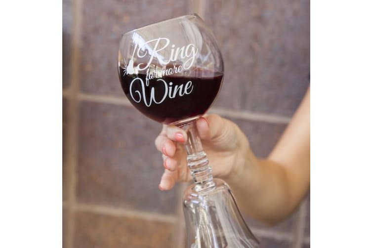 """Ring for More Wine"" Wine Glass Bell 
