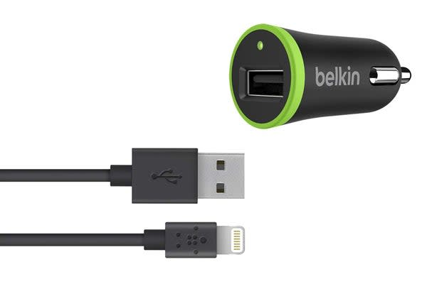 Belkin Boost Up 12W Car Charger with Lightning ChargeSync Cable (F8J121BT04-BLK)