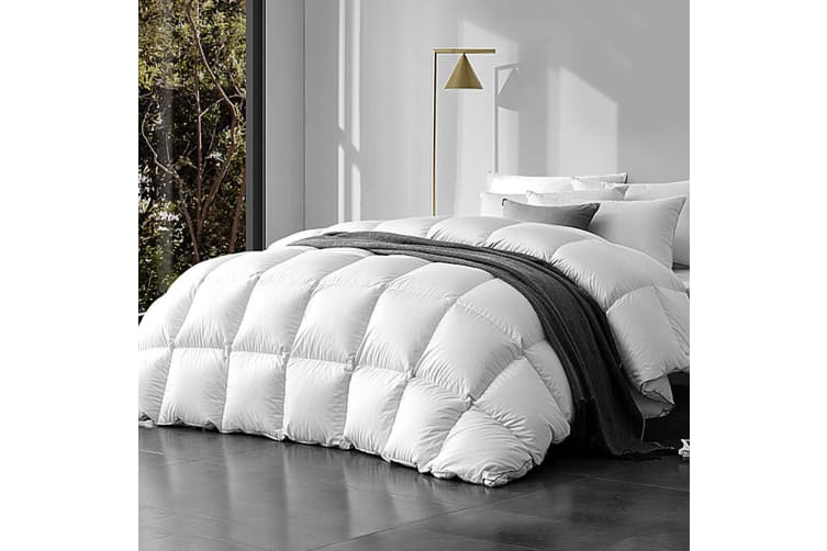 800GSM Goose Down Feather Quilt Winter Quilts Cotton Duvet Cover Doona Blanket Ultra Warm King Size Bed