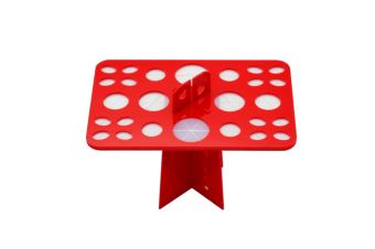 Removable Cosmetic Brush Receiving Frame For 26-Hole Air-Drying Frame Red Circular Hole