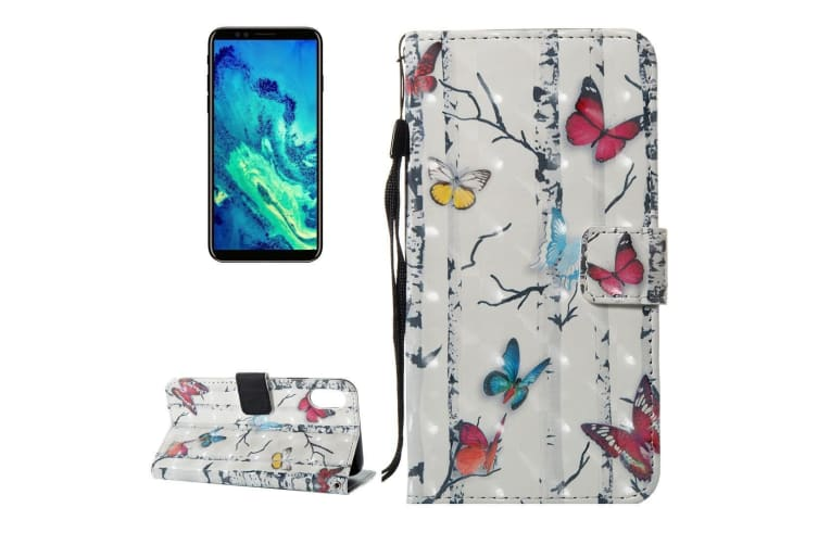 For iPhone XS X Wallet Case Elegant Butterflies Durable Protective Leather Cover
