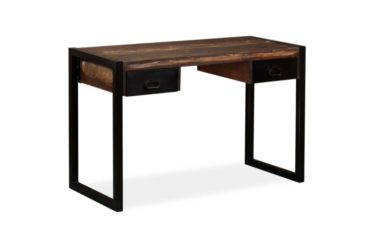 vidaXL Desk with 2 Drawers Solid Reclaimed Wood 120x50x76 cm