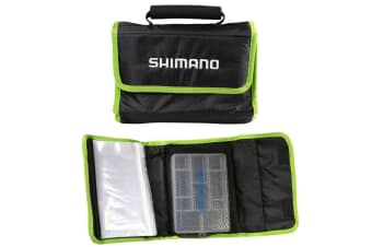 Shimano Fishing Lure Travel Wrap - Soft Plastics Wallet with Fishing Tackle Tray
