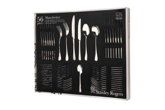 STANLEY ROGERS 56 Piece Stainless Steel MANCHESTER 56pc Cutlery Set 50510