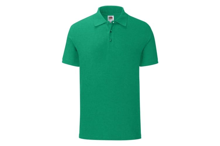Fruit Of The Loom Mens Iconic Polo Shirt (Heather Green) (3XL)