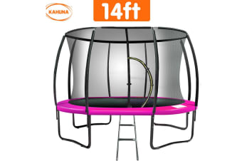 Trampoline 14ft Kahuna Round Outdoor - Pink