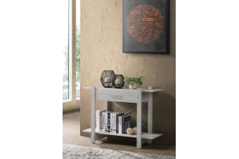 Console Hallway Display Table w/ Drawer in White Oak