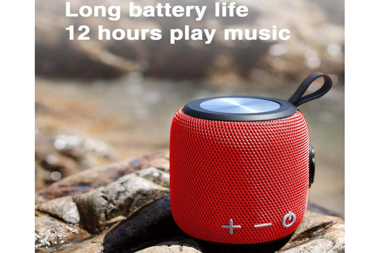 Portable Bluetooth Speaker,SANAG Bluetooth 5.0 Dual Pairing Loud Wireless Mini Speaker, 360 HD Surround Sound & Rich Stereo Bass,12H Playtime-Red