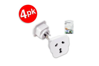 4x Sansai Travel Power Adapter Outlet India/South Africa Sockets to AU/NZ Plug