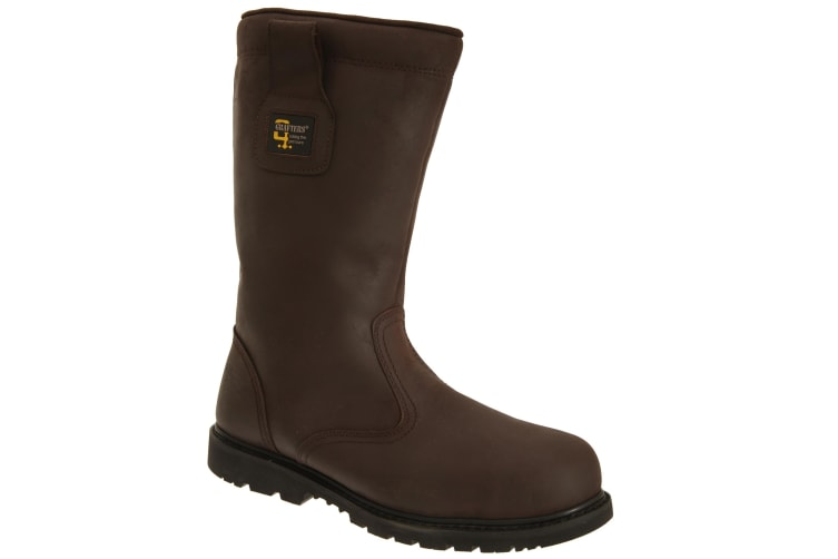Grafters Mens Safety Toe Cap Rigger Boots (Brown Crazy Horse) (6 UK)