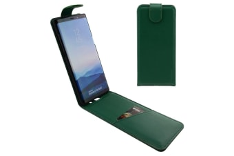 For Samsung Galaxy Note 8 Case iCL Vertical Flip Genuine Leather Cover Green