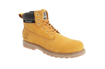 Woodland Mens 6 Eye Padded Utility Boots (Honey)