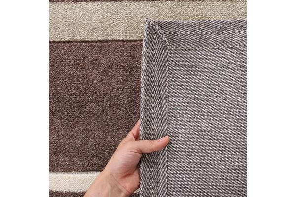 Stylish Stripe Rug Brown Beige 320x230cm