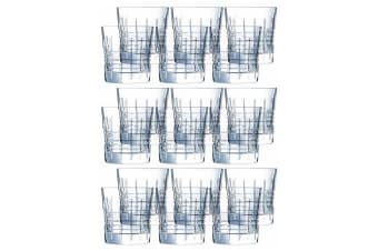 18PK Cristal D'Arques Rendez-Vous 320ml Old Fashioned Whiskey Glasses Glass Bar