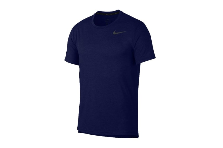 Nike Men's Dri-Fit Breathe Tees (Blue, Size M)