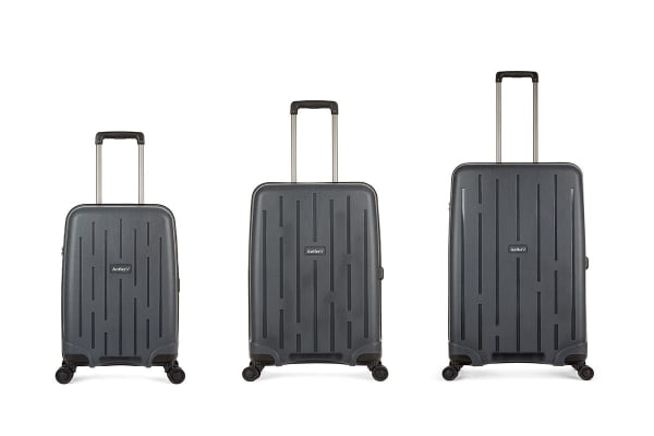 Antler Lightning Roller Case 3 Piece Hardside Luggage Set - Charcoal