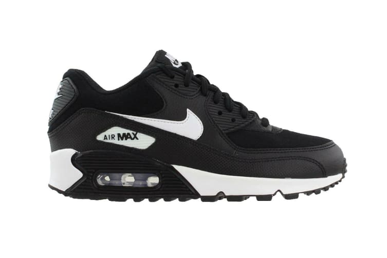Nike Women's Air Max 90 Shoes (Black/White, Size 5.5 US)