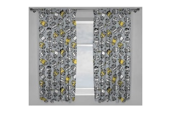 Despicable Me Jailbird Curtains (Grey/White/Yellow)