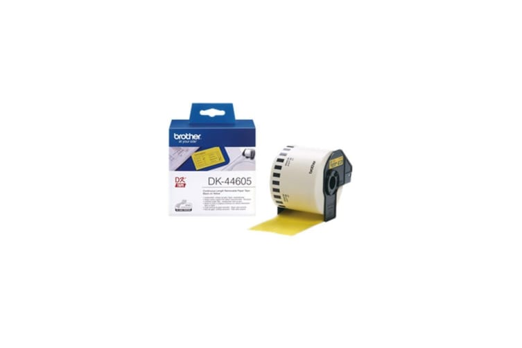 Brother genuine DK44605 Continuous Length Removeable YELLOW 62mm